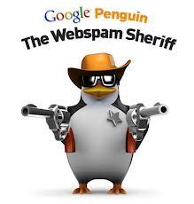 Google Penguin Holding 2 Guns Like a Sheriff