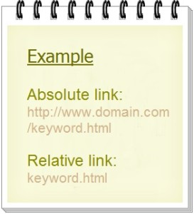 Example for Absolute Link and Relative Link